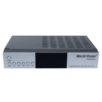 Ресивер World Vision Premium, Т2/С, Dolby Digital